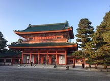 Facade of Heian temple in Kyoto, Japan Royalty Free Stock Photo