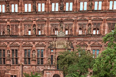 The facade of the Heidelberg castle ruins Royalty Free Stock Photography
