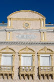 Facade of the Heredia Theater in Cartagena Stock Photography