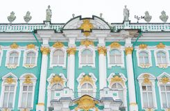 Facade of Hermitage museum. Royalty Free Stock Images