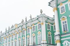 Facade of Hermitage museum. Royalty Free Stock Image