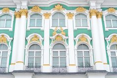 Facade of Hermitage museum. Stock Photography