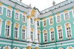 Facade of Hermitage museum. Stock Photos