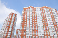 The facade high-rise apartment house Stock Photography