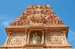 Facade Of A Hindu Temple Stock Image