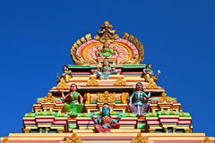 Facade of the hindu temple Royalty Free Stock Photography