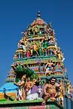 Facade of the hindu temple Royalty Free Stock Photo