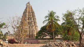 Facade of Hindu temple stock video footage