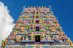 Facade of a Hindu temple in Victoria, Seychelles Royalty Free Stock Photography