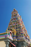 Facade of a Hindu temple in Victoria, Seychelles Stock Photo