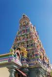 Facade of a Hindu temple in Victoria, Seychelles Stock Photo