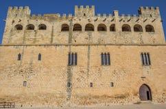 Facade of the historcal castle of Valderrobres royalty free stock photos