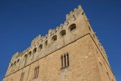 Facade of the historcal castle of Valderrobres stock photo