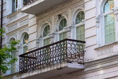 Facade of a historic building in the classical style. Architecture Stock Photo