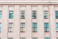 The facade of the historic building pastel colors building with window. Stock Images