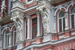 Facade of a historic building with statues Royalty Free Stock Images