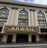Facade of the historic Hawaii State Theater Stock Photography