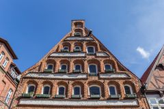 Facade of a historic house in Luneburg Royalty Free Stock Photo