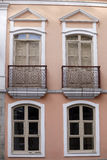 Facade of historic house, sao paulo, brazil Royalty Free Stock Photography