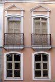 Facade of historic house, sao paulo, brazil Royalty Free Stock Photography