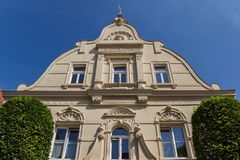 Facade of a historic house in Warendorf stock images