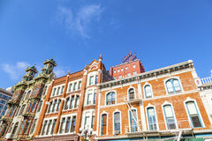 Facade of historic houses Royalty Free Stock Photos