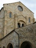 Facade of the historic stone church of AQUILEIA Stock Photography
