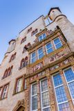 Facade of the historic Tempelhaus building in Hildesheim. Germany Stock Image
