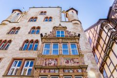 Facade of the historic Tempelhaus building in Hildesheim. Germany Royalty Free Stock Photography