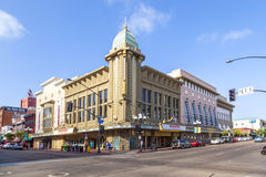 Facade of historic theater Gaslamp Stock Photography