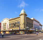 Facade of historic theater Gaslamp Royalty Free Stock Image