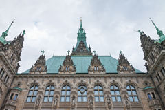 Facade historic town hall in Hamburg, Germany Stock Image