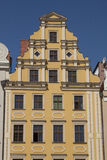 Facade of historical building in city center of Wroclaw, Poland Royalty Free Stock Photo