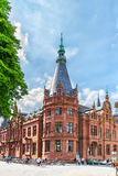 Facade of the historical building of Heidelberg Royalty Free Stock Image