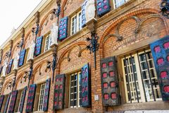 Historical building of the Latin School in Nijmegen, Netherlands. Facade of the historical building of the Latin School in Nijmegen, Netherlands Royalty Free Stock Images