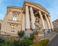 Facade of the historical building of the National Theater Oradea Royalty Free Stock Photography