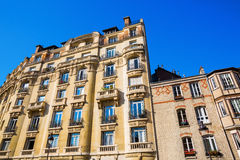 Facade of a historical building in Paris, France