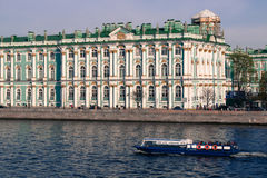 Facade of a historical building on the river Stock Images