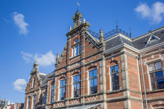 Facade of the historical new orphanage in Leeuwarden stock image
