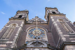 Facade of the historical St. Nicolas Church in Amsterdam Stock Photo