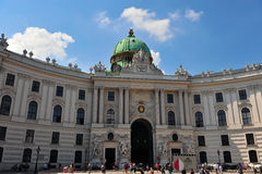 Facade of the Hofburg castle Stock Photography