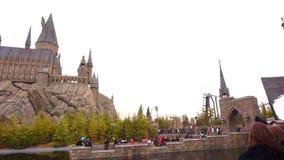 Facade of The Hogwarts castle stock video