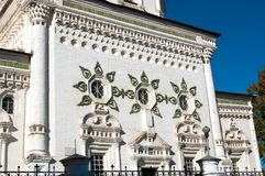 Facade of the Holy Trinity Cathedral in Verkhoturye . Middle Urals . Gates Verkhoturye Kremlin , simplicity, delicacy , lightness , elegance. Holy Trinity Stock Image