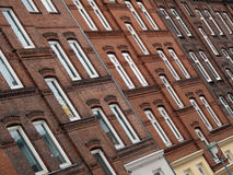Facade of homes in Kiel, Germany Royalty Free Stock Photography