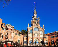 Facade of hospital de Sant Pau. Barcelona Royalty Free Stock Image