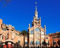 Facade of hospital de Sant Pau. Barcelona Royalty Free Stock Image