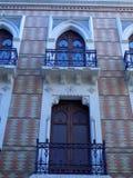Facade Hospital of Santo-Tomas-Malaga. Andalusia stock photography