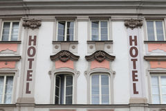 Facade of hotel Royalty Free Stock Image