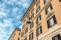 The facade of the house. Against the sky, Rome, Italy stock photography