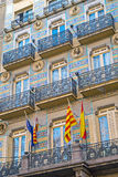 Facade of a house in Barcelona Royalty Free Stock Image